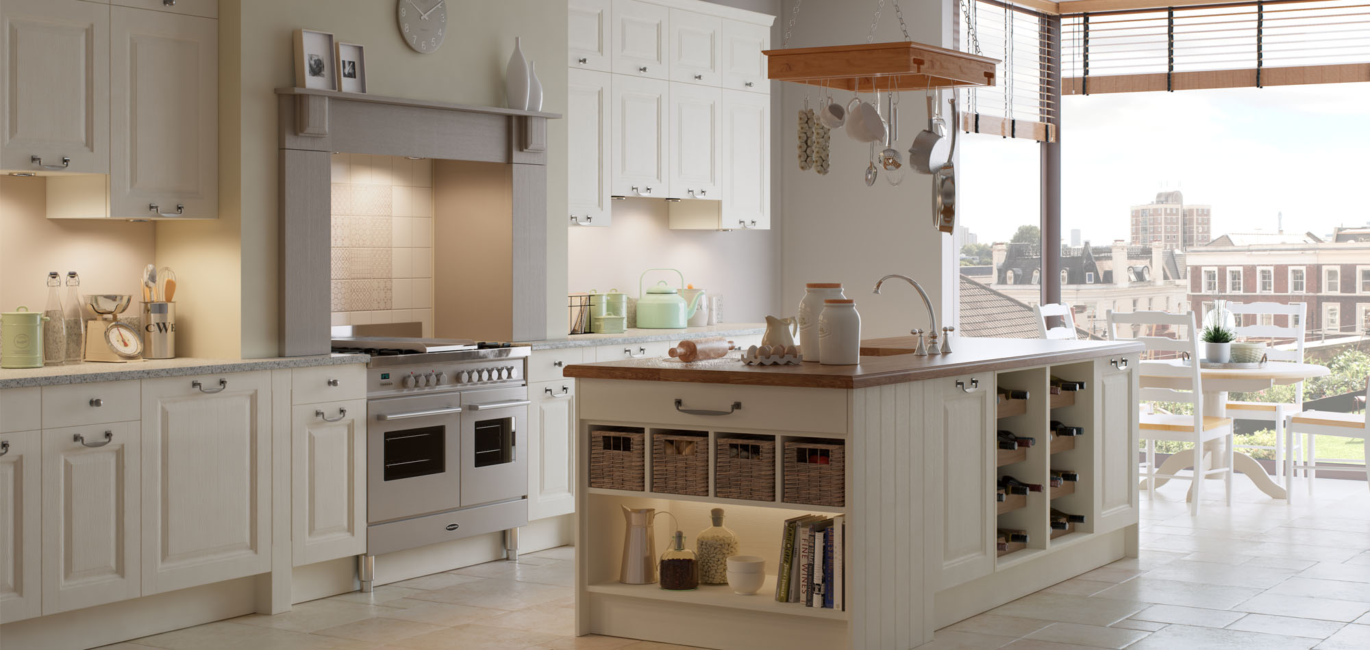 Traditional Shaker Town and Country Kitchen - Mereway
