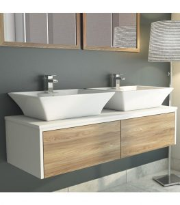Synergy Float Driftwood Vanity Wall Unit