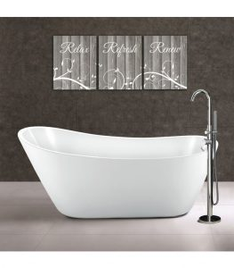 Synergy Modern Slipper Freestanding Bath