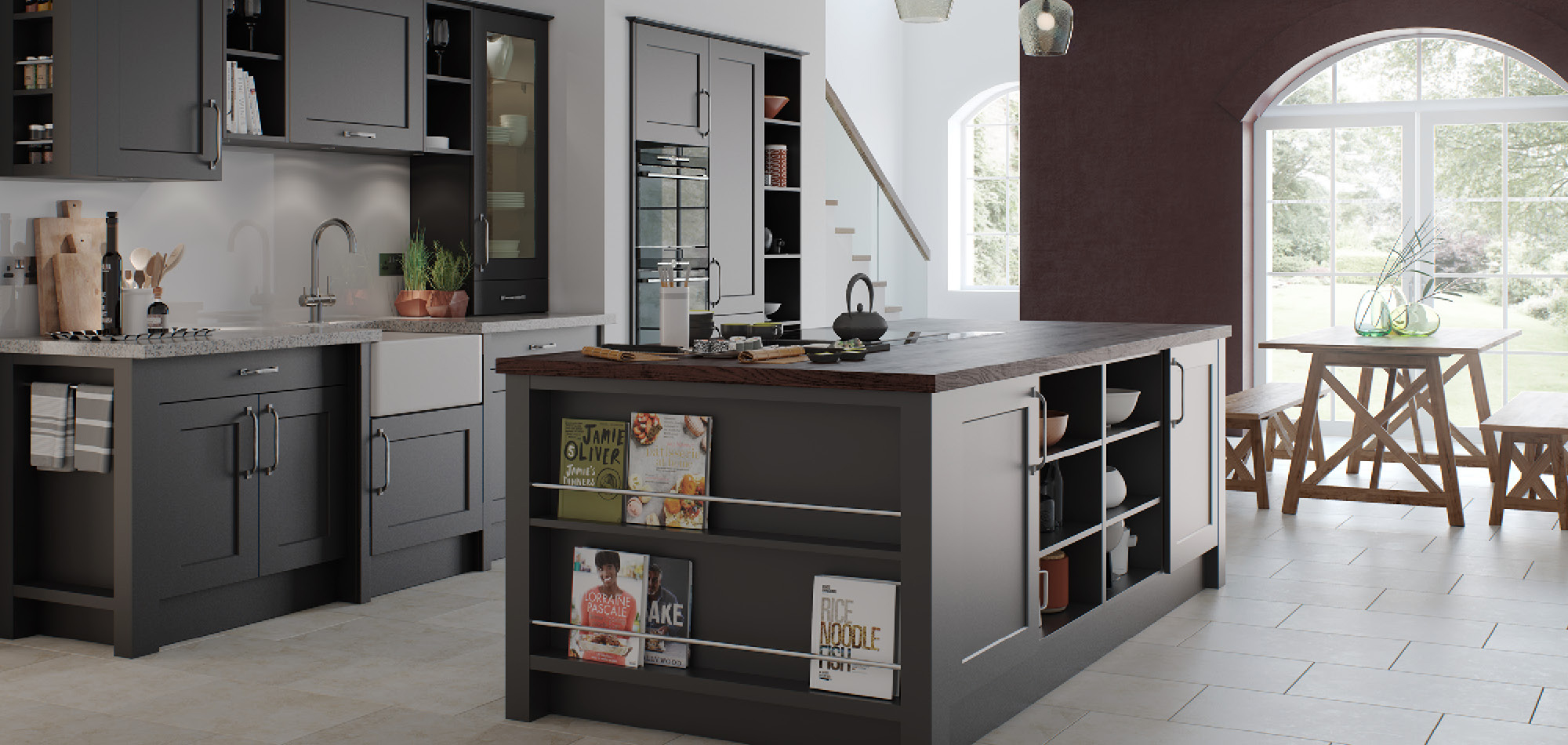 Town and Country Diamond Grey Kitchen - Mereway