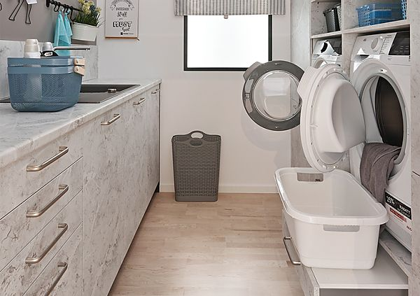 Utility Room in TEMA Light Marble