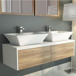 Synergy Float Driftwood Vanity Wall Unit